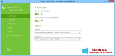 Στιγμιότυπο οθόνης Dr.Web Security Space Windows 8