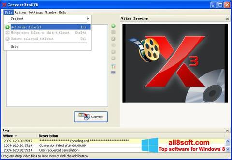 Στιγμιότυπο οθόνης ConvertXToDVD Windows 8