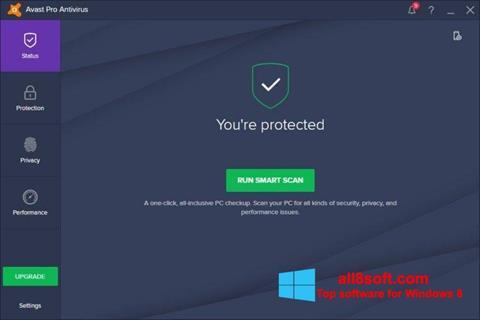 Στιγμιότυπο οθόνης Avast! Pro Antivirus Windows 8