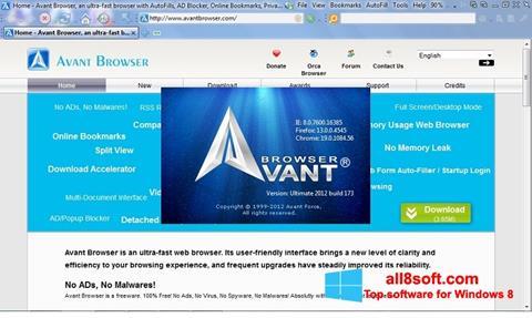Στιγμιότυπο οθόνης Avant Browser Windows 8
