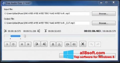 Στιγμιότυπο οθόνης Free Audio Dub Windows 8