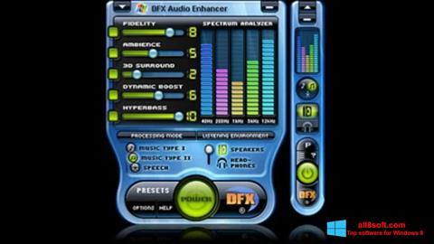 Στιγμιότυπο οθόνης DFX Audio Enhancer Windows 8