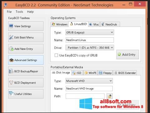 Στιγμιότυπο οθόνης EasyBCD Windows 8