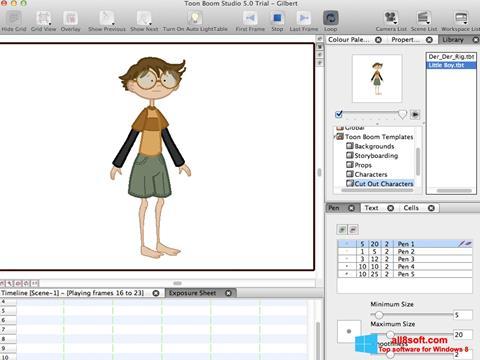 Στιγμιότυπο οθόνης Toon Boom Studio Windows 8