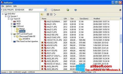 Στιγμιότυπο οθόνης IsoBuster Windows 8