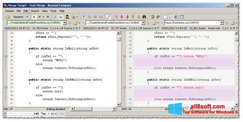 Στιγμιότυπο οθόνης Beyond Compare Windows 8