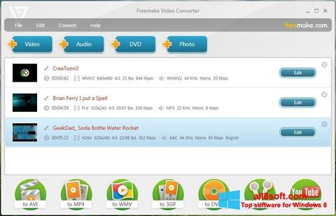 Στιγμιότυπο οθόνης Freemake Video Converter Windows 8