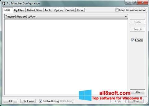 Στιγμιότυπο οθόνης Ad Muncher Windows 8