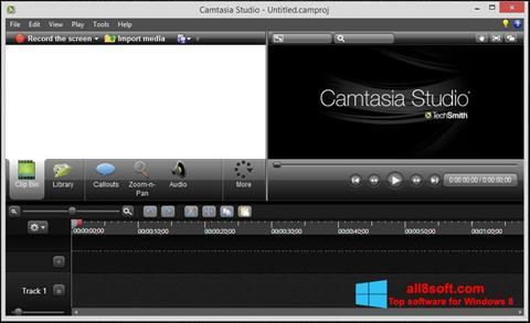 Στιγμιότυπο οθόνης Camtasia Studio Windows 8