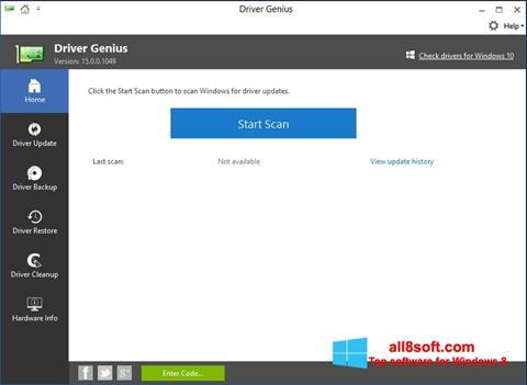 Στιγμιότυπο οθόνης DriverScanner Windows 8