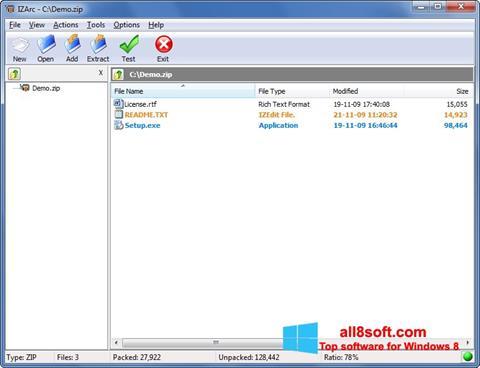 Στιγμιότυπο οθόνης IZArc Windows 8