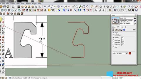 Στιγμιότυπο οθόνης SketchUp Windows 8