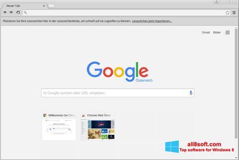 Στιγμιότυπο οθόνης Google Chrome Windows 8