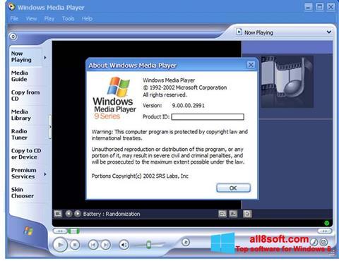 Στιγμιότυπο οθόνης Windows Media Player Windows 8