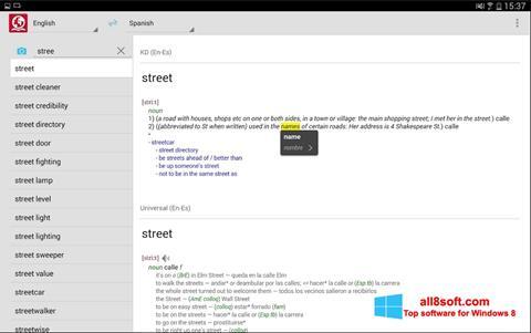 Στιγμιότυπο οθόνης ABBYY Lingvo Windows 8