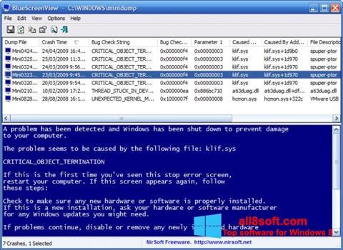 Στιγμιότυπο οθόνης BlueScreenView Windows 8