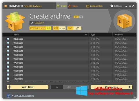 Στιγμιότυπο οθόνης Hamster Free ZIP Archiver Windows 8