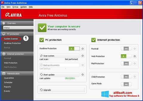 Στιγμιότυπο οθόνης Avira Windows 8