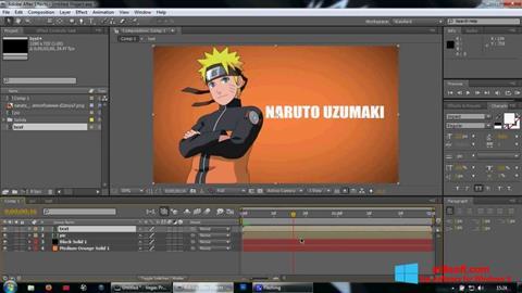Στιγμιότυπο οθόνης Adobe After Effects Windows 8