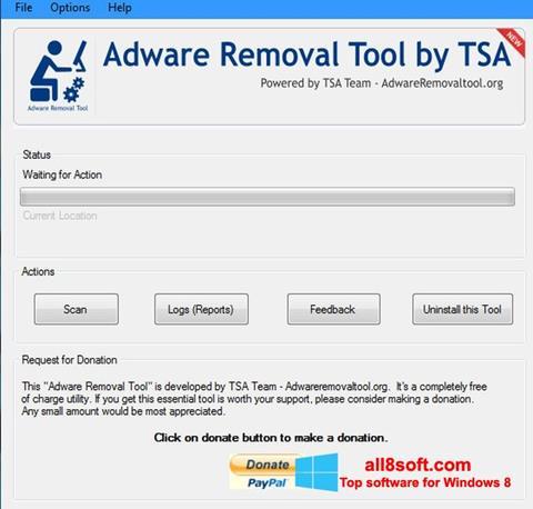 Στιγμιότυπο οθόνης Adware Removal Tool Windows 8