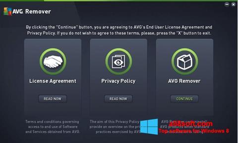 Στιγμιότυπο οθόνης AVG Remover Windows 8