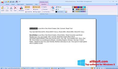 Στιγμιότυπο οθόνης DocX Reader Windows 8