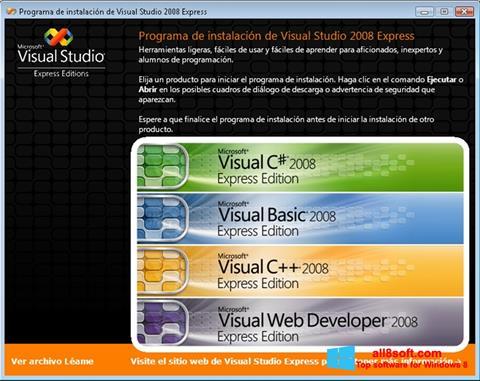 Στιγμιότυπο οθόνης Microsoft Visual Studio Windows 8