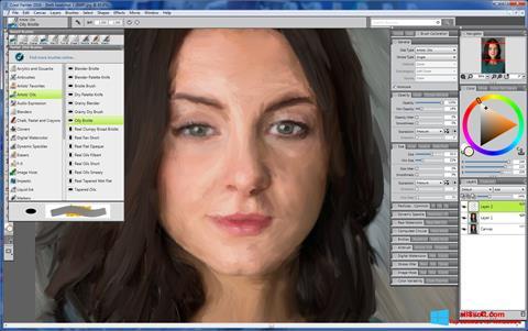 Στιγμιότυπο οθόνης Corel Painter Windows 8