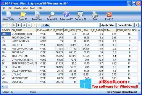 Στιγμιότυπο οθόνης DBF Viewer Windows 8