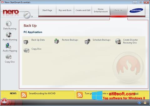 Στιγμιότυπο οθόνης Nero Windows 8