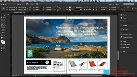 Στιγμιότυπο οθόνης Adobe InDesign Windows 8