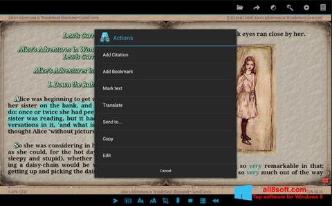 Στιγμιότυπο οθόνης AlReader Windows 8