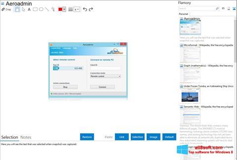 Στιγμιότυπο οθόνης AeroAdmin Windows 8