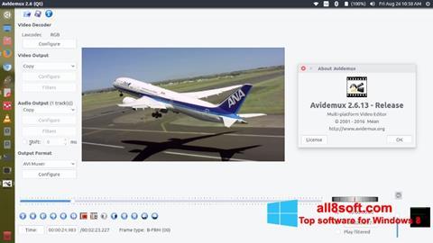 Στιγμιότυπο οθόνης Avidemux Windows 8