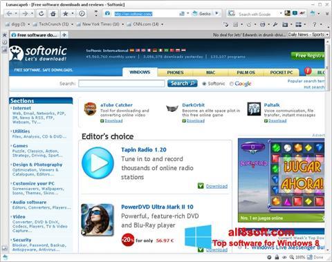 Στιγμιότυπο οθόνης Lunascape Windows 8