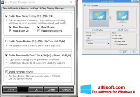 Στιγμιότυπο οθόνης Easy Display Manager Windows 8
