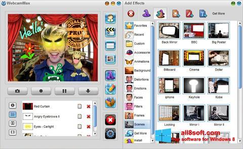 Στιγμιότυπο οθόνης WebcamMax Windows 8